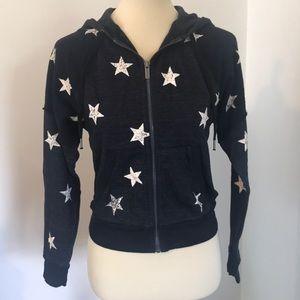 Splendid Star Zip Up Hoodie NWT XS